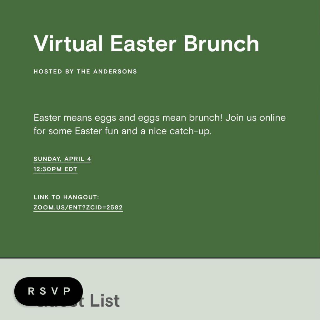 Brunch On Easter