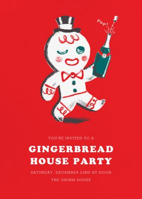 Gingerbread Gent - Paperless Post - Holiday invitations