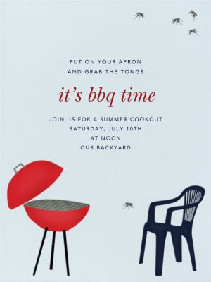 BBQ and Mosquito - Paperless Post