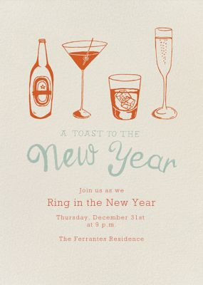 New Years Cocktails - Paperless Post