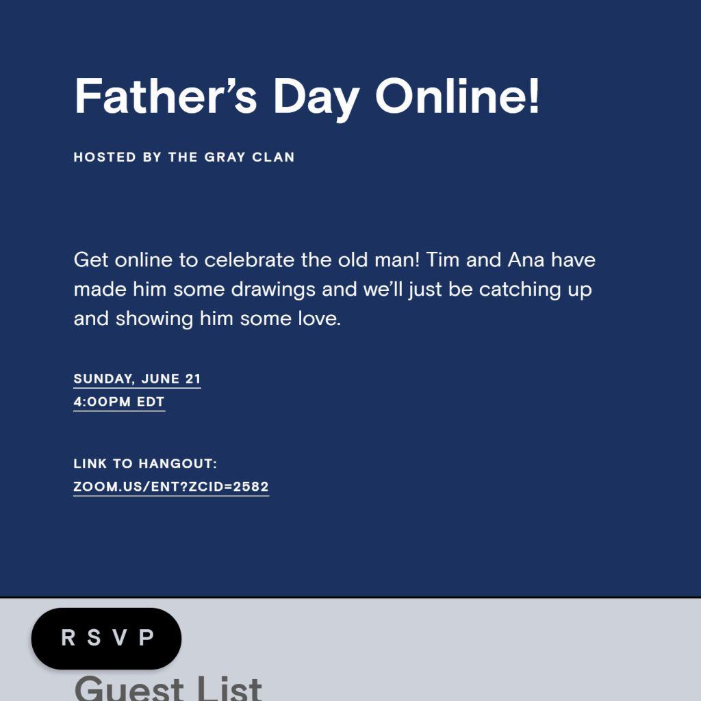 Virtual Father's Day Fun
