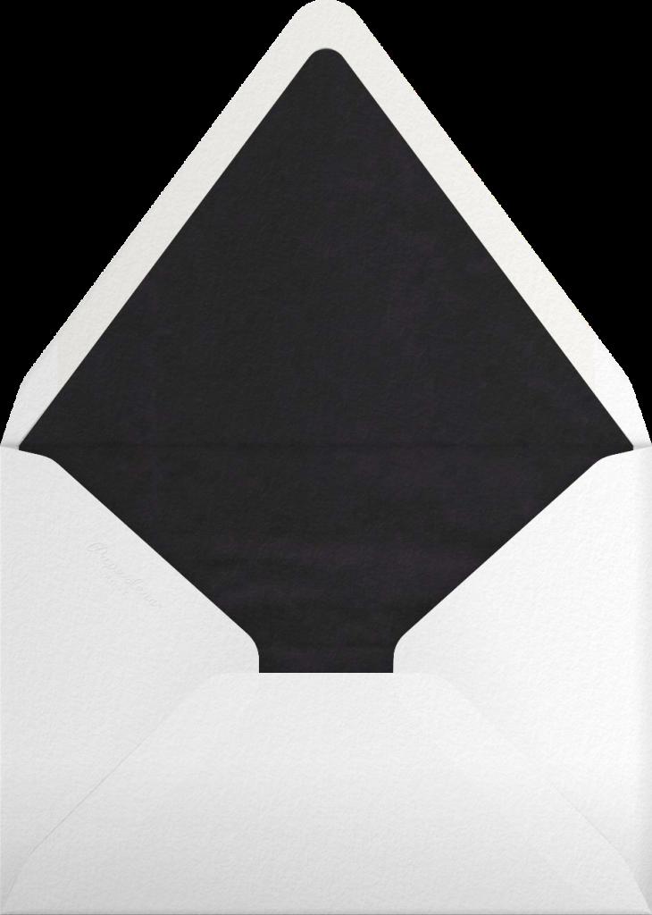 Gradient Full (Tall) - Black - Paperless Post - Envelope