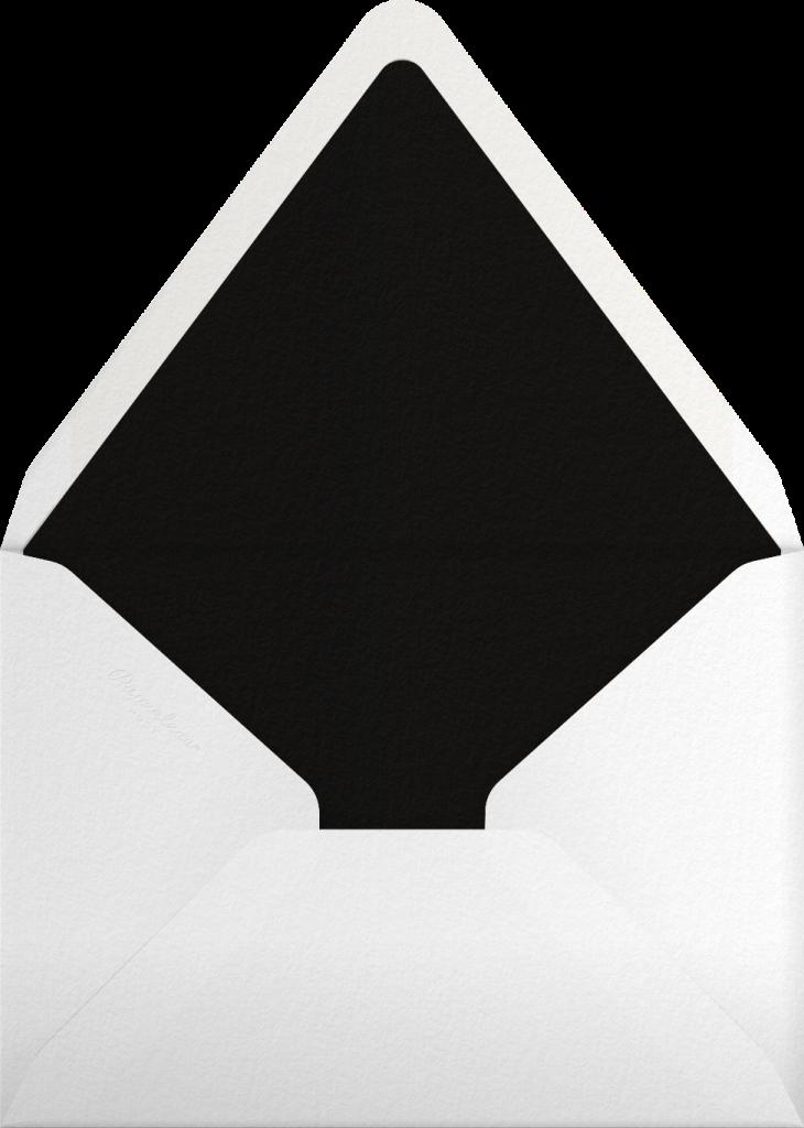 Josephine Baker - Black/Silver - Paperless Post - Envelope