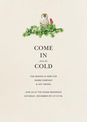 Barn Owl - Felix Doolittle - Holiday invitations