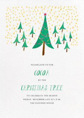 Glittery Tree in the Christmas Forest (Invitation) - Mr. Boddington's Studio