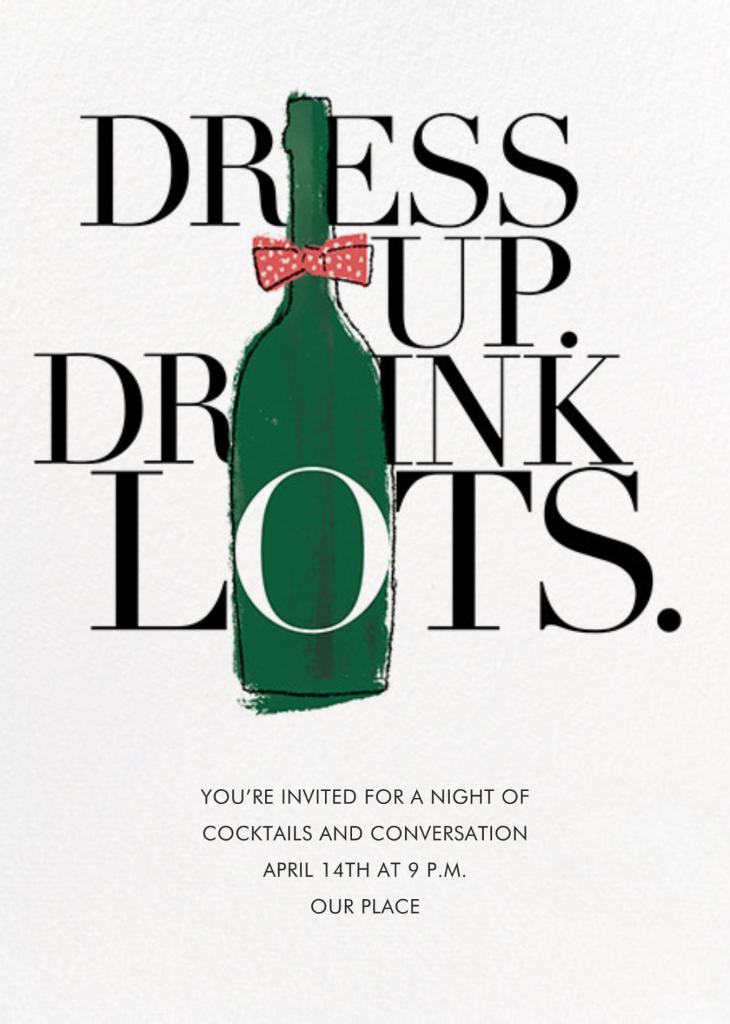 Dress Up, Drink Lots - Derek Blasberg