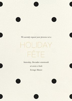 Diadem Dots - Sugar Paper - Holiday invitations