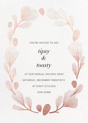 Sugar Pine - Paperless Post - Holiday invitations