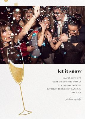 Champagne Bubbles (Photo) - Paperless Post - Holiday invitations