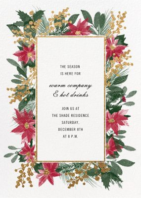 Guirlande Rouge - Paperless Post - Company holiday party