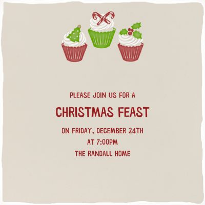 Holiday Cupcakes - Paperless Post - Cookie swap invitations