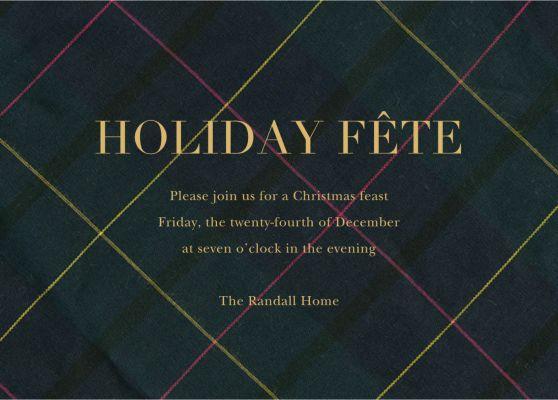 Mod Tartan - Sugar Paper - Holiday invitations