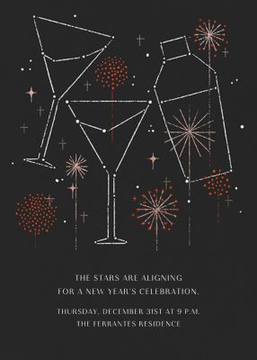 Cocktail Constellation - Paperless Post