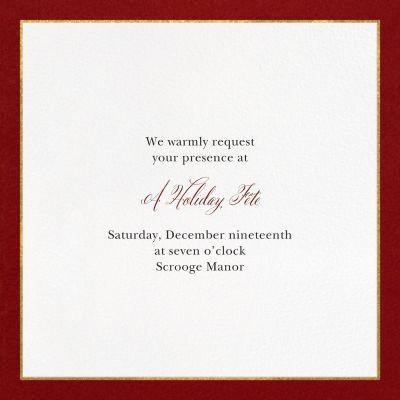 Oro - Paperless Post - Holiday invitations