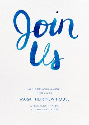 Join Us Tall - Linda and Harriett - Housewarming Party Invitations