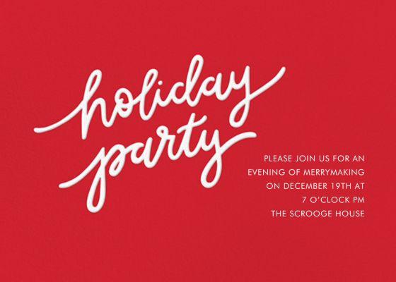 Holiday Script - Sugar Paper - Holiday invitations