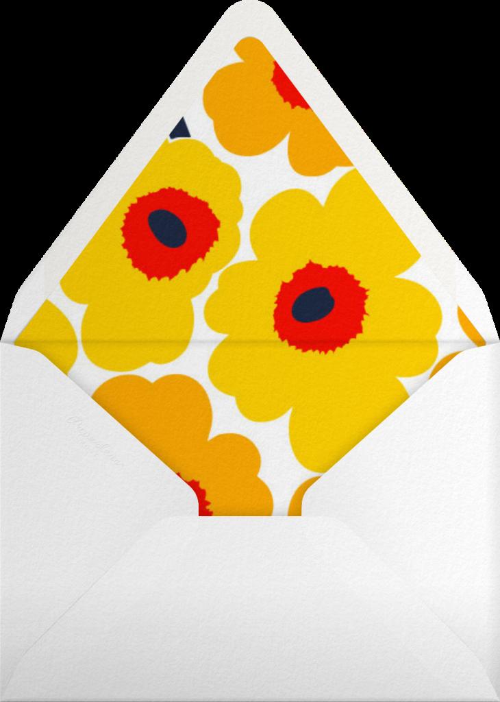 Unikko (Tall) - Yellow - Marimekko - Envelope
