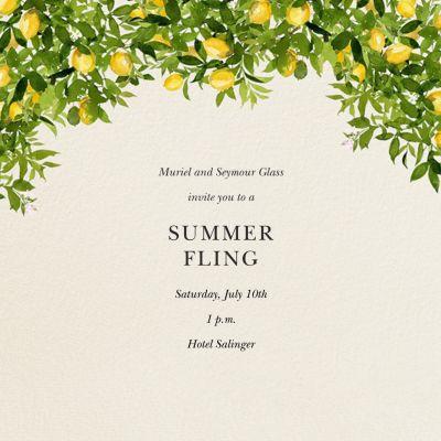 Eureka Bower - Felix Doolittle - Fruity invitations