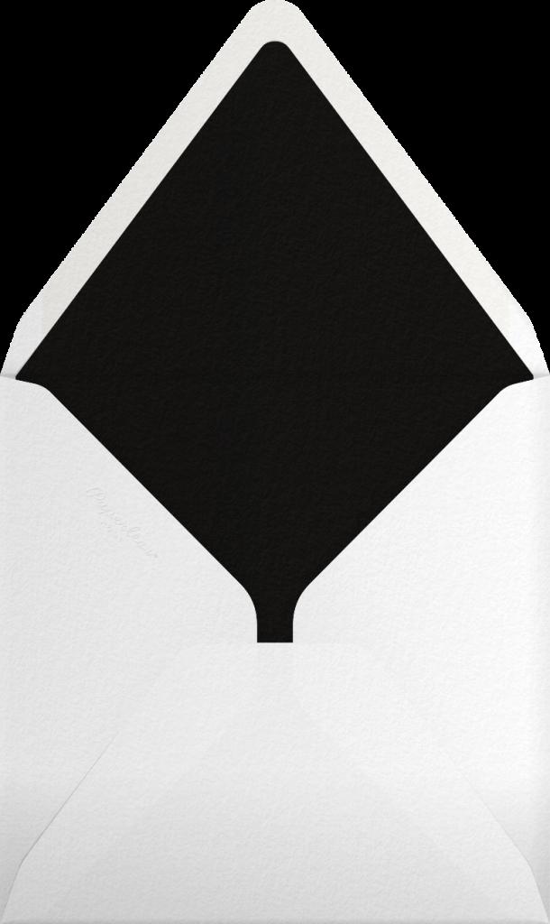 Gradient White Border - Black - Paperless Post - Envelope