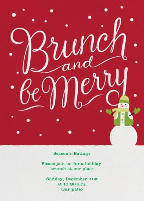 Brunch and Be Merry - Crate & Barrel - Holiday invitations