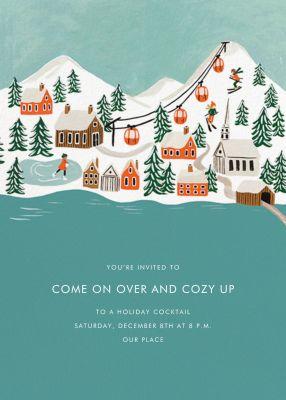Ski Village - Rifle Paper Co. - Holiday invitations