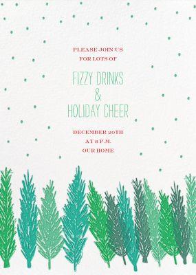 Gather Around the Tree - Mr. Boddington's Studio - Holiday invitations