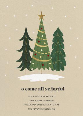 Christmas Tree Trio - Paperless Post