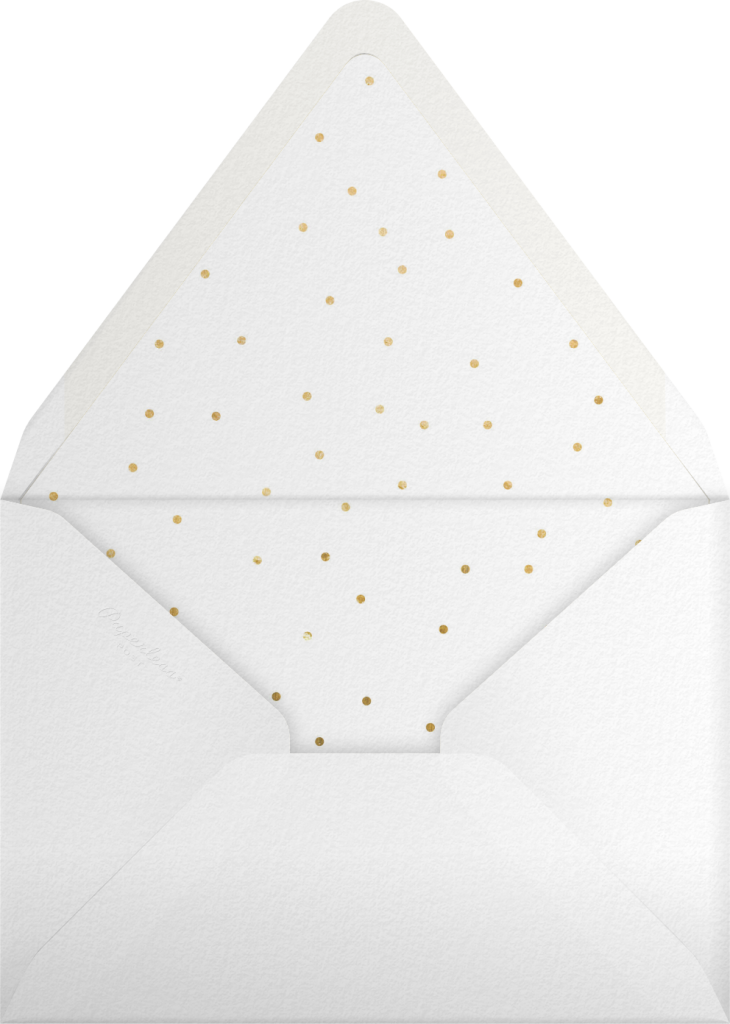 Snow Pine Valley (Tall) - Gold - Paperless Post - Envelope