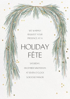 Holiday Garland - Paperless Post - Holiday invitations