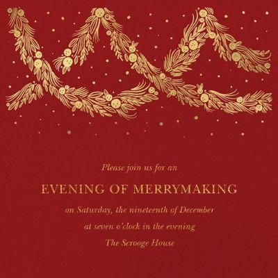 Holiday Drape - Paperless Post - Holiday invitations