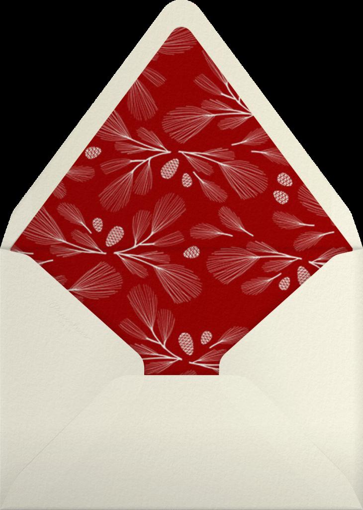 Sugar Pine - Red/Silver - Paperless Post - Envelope
