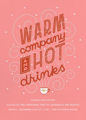 Hot Cuppa Holiday - Paperless Post