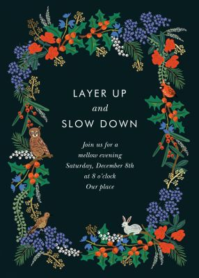 Winter Floral - Rifle Paper Co. - Holiday invitations