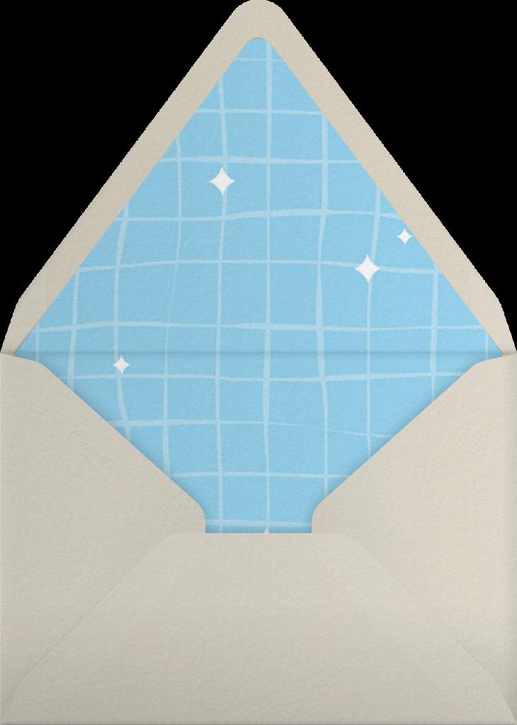 Wood Grain Color Slabs - Blue - Paperless Post - Envelope