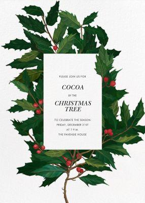 English Holly - Paperless Post - Holiday invitations