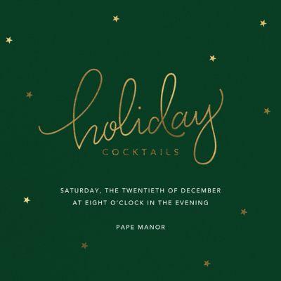 Holiday Curls - Sugar Paper - Holiday invitations