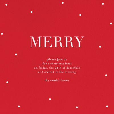 Merry Dots - Sugar Paper - Holiday invitations