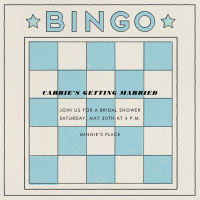 Bingo Card - Paperless Post