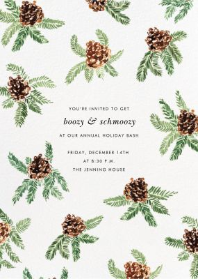 Painted Pine Cones - Paperless Post