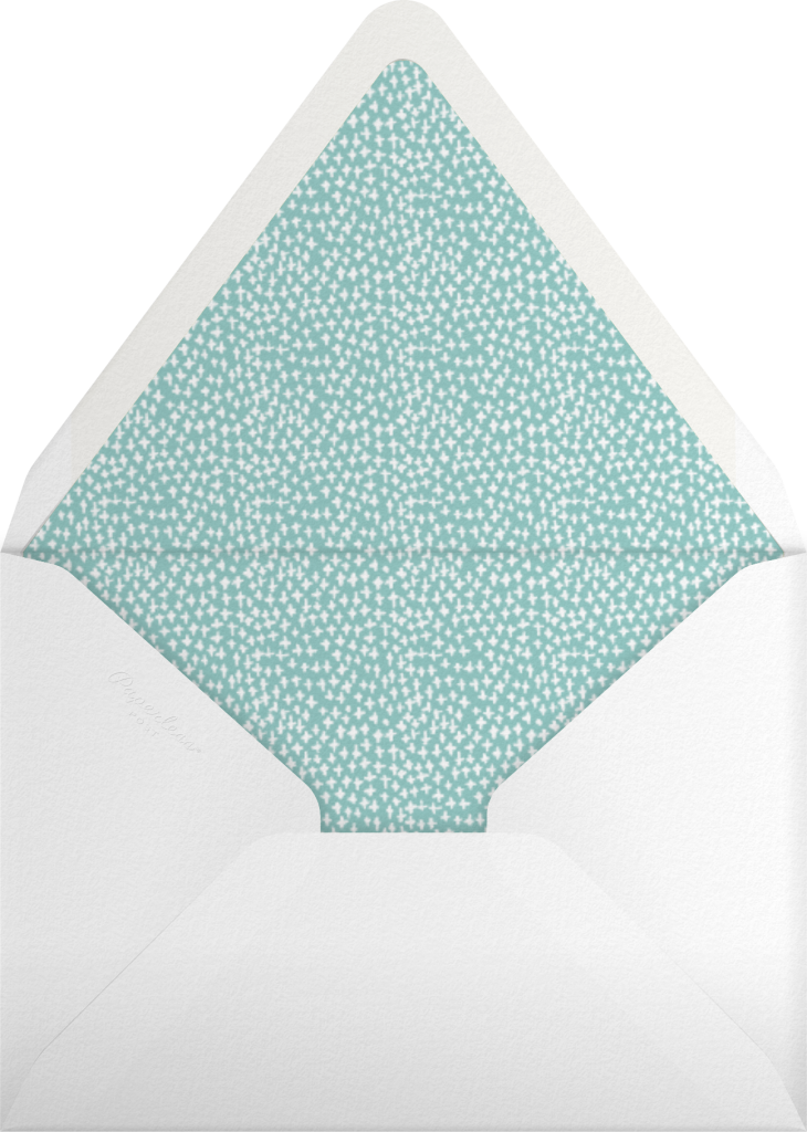 Croissants for the Bride - Dark Blue - Mr. Boddington's Studio - Envelope