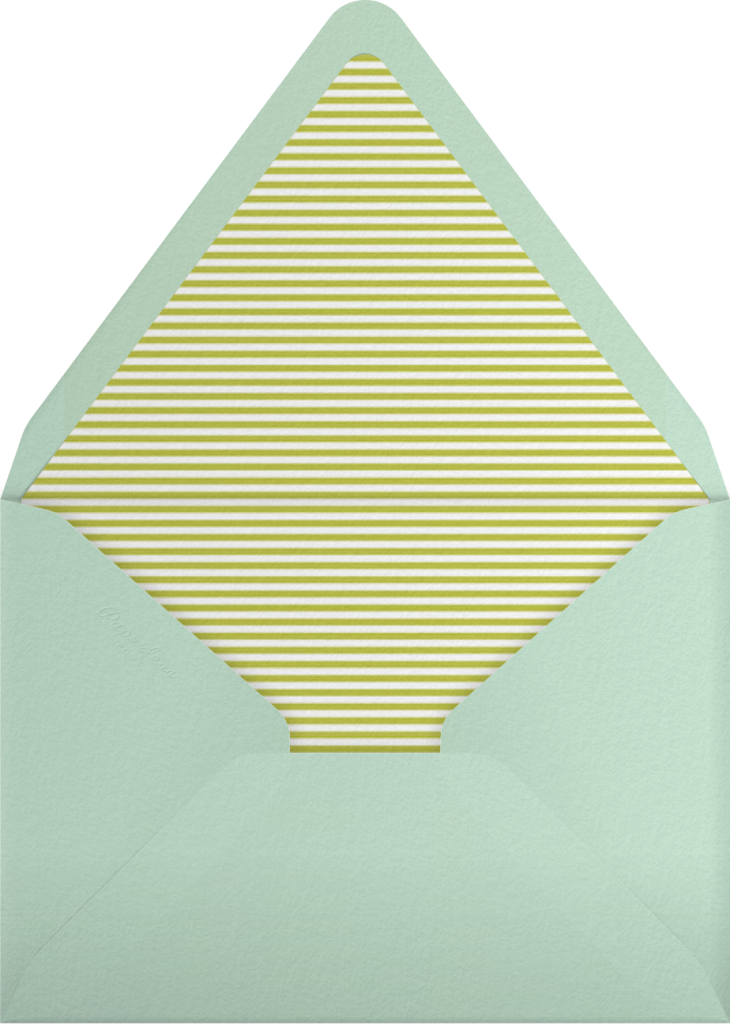 Gradient Messy Strokes - Green - Paperless Post - Envelope