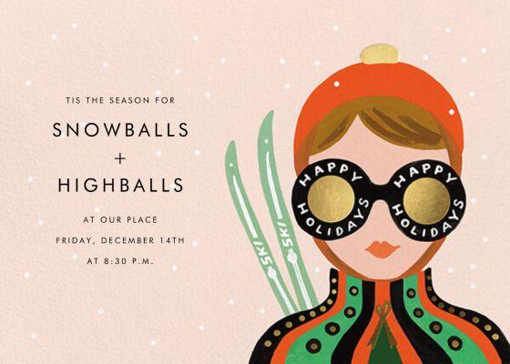 Ski Shades - Rifle Paper Co. - Holiday invitations