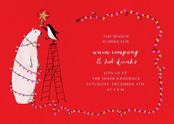 O Tannenbear (Horizontal) - Paperless Post - Holiday invitations