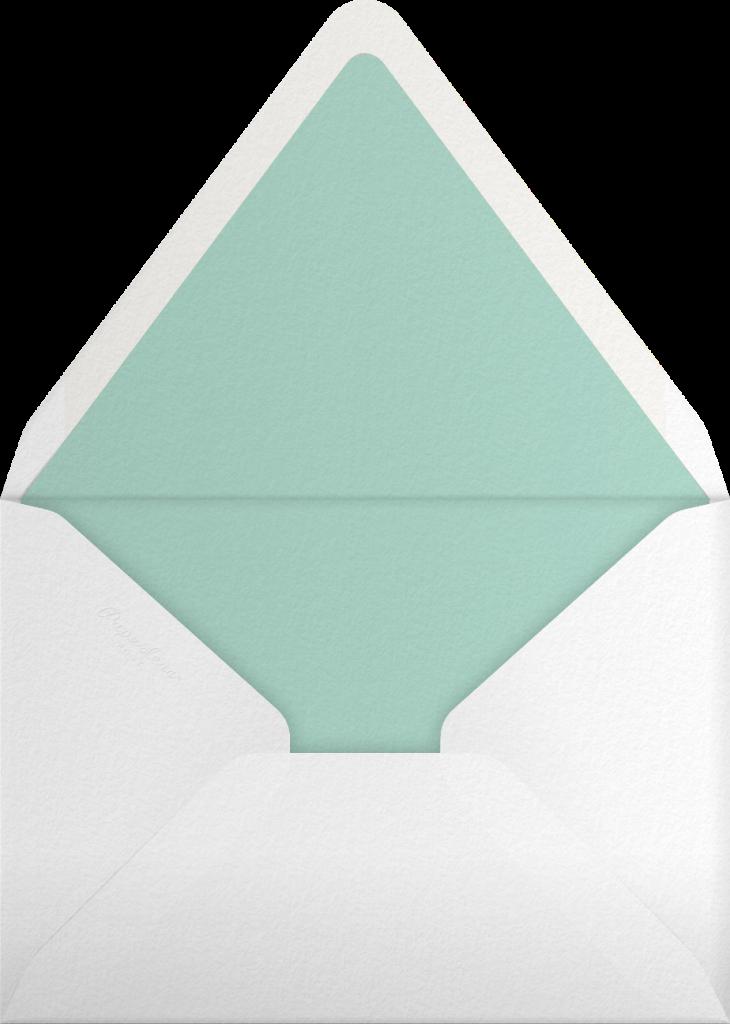 Gradient Full Horizontal - Green - Paperless Post - Envelope