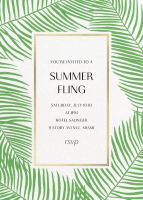 Palmier Nouveau (Invitation) - Paperless Post - Summer Party Invitations