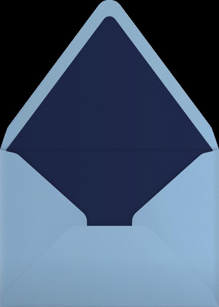 Folk Reindeer - Blue - Paperless Post - Envelope