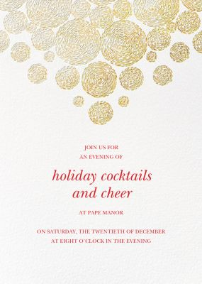 Radiant Swirls (Tall) - Oscar de la Renta - Holiday invitations