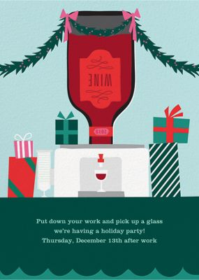 Wine Cooler - Cheree Berry Paper & Design - Holiday invitations