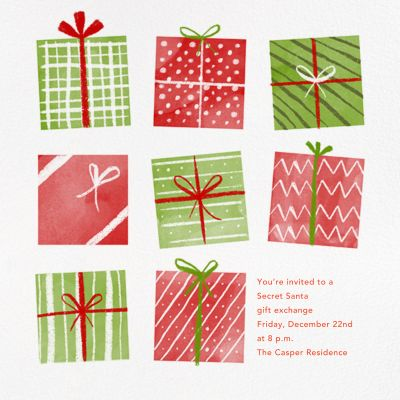 Under the Tree - Paperless Post - Holiday invitations