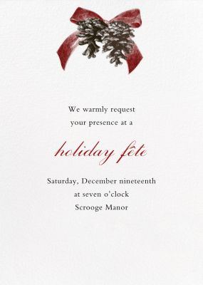 Winter Pine - Paperless Post - Holiday invitations